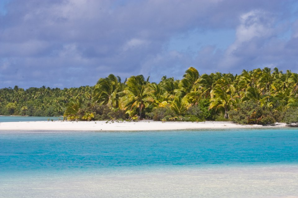Aitutaki atoll in Cook Islands